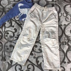 Osh Gosh Boys size 6 light khakis reinforced knees